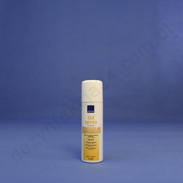 Oliwka w sprayu, do pielęgnacji suchej i popękanej skóry, perfumowana.