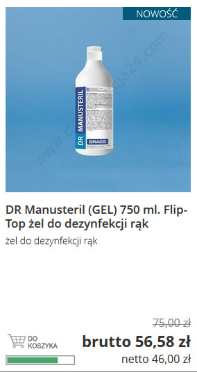 Manusteril 750 ml