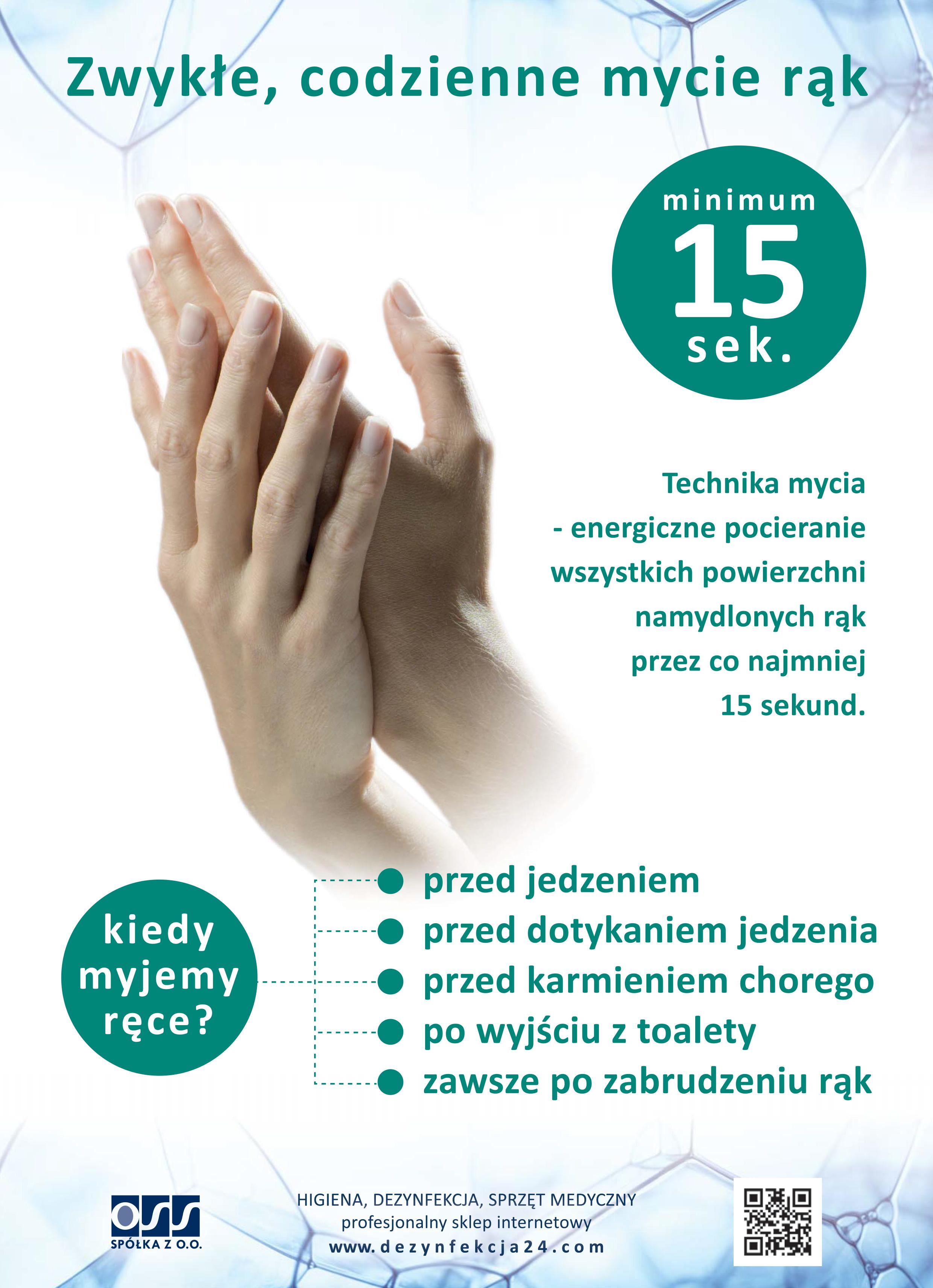Instrukcja zwykłego, codziennego mycia rąk