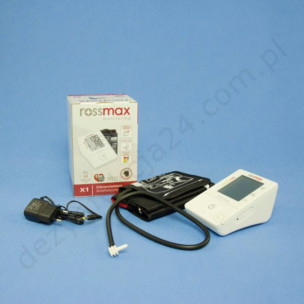 Ciśnieniomierz automatyczny Rossmax X1 + zasilacz