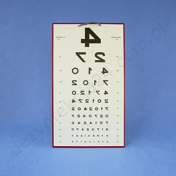 tablica okulistyczna cyfrowa odwrócona