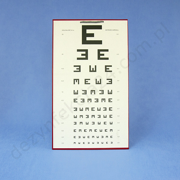 tablica okulistyczna widełkowa